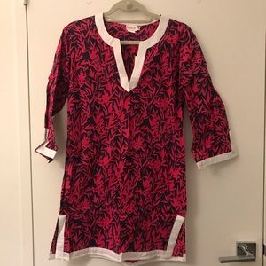 Other - Navy & Fuchsia Beach Coverup - Size S